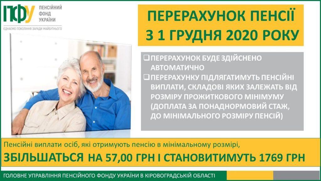pererahunok 1024x576 - Перерахунок пенсії з 1 грудня 2020 року