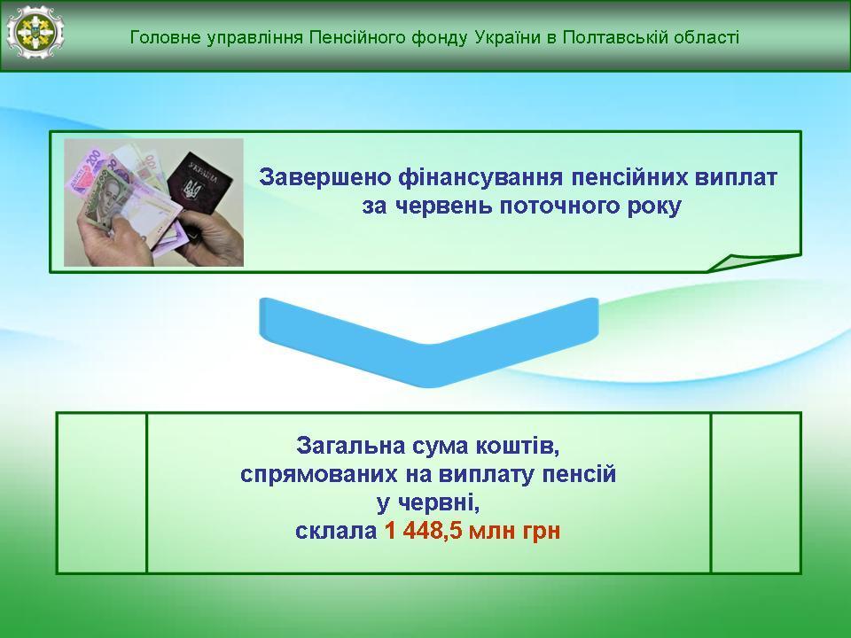 zaversh finans - Завершено фінансування пенсійних виплат за червень