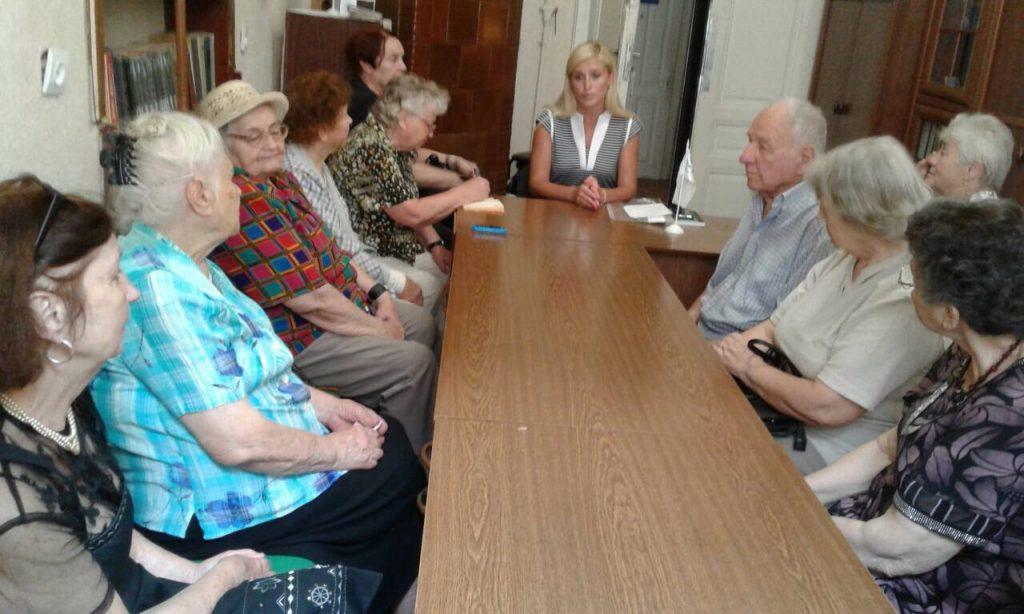 Pylypko pensionery 1024x614 - Про порядок призначення пенсій фахівці пенсійної служби розповідають нинішнім і майбутнім пенсіонерам