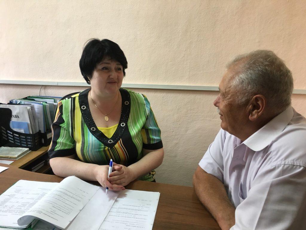 SHkurenkoveteran 1024x768 - Про порядок призначення пенсій фахівці пенсійної служби розповідають нинішнім і майбутнім пенсіонерам